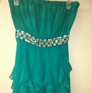 Forever 21 formal party dress size 4 color teal